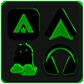 Black and Green Icon Pack