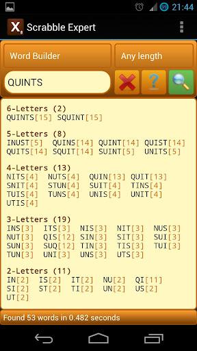 Word Expert (for SCRABBLE) screenshots 1