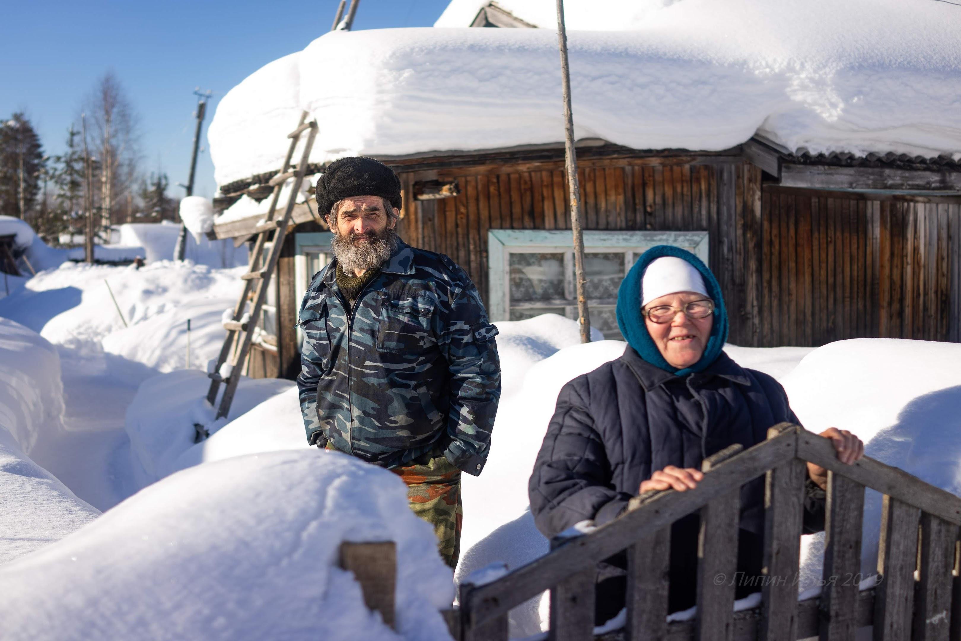 Иван Васильевич и Галина Петровна Сивухины. пенсионеры из деревни Русиново.