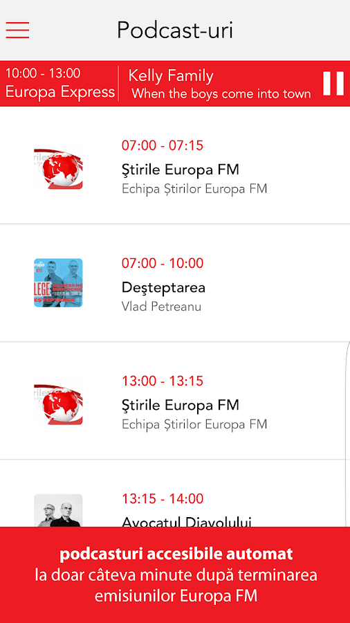 Europa FM- screenshot