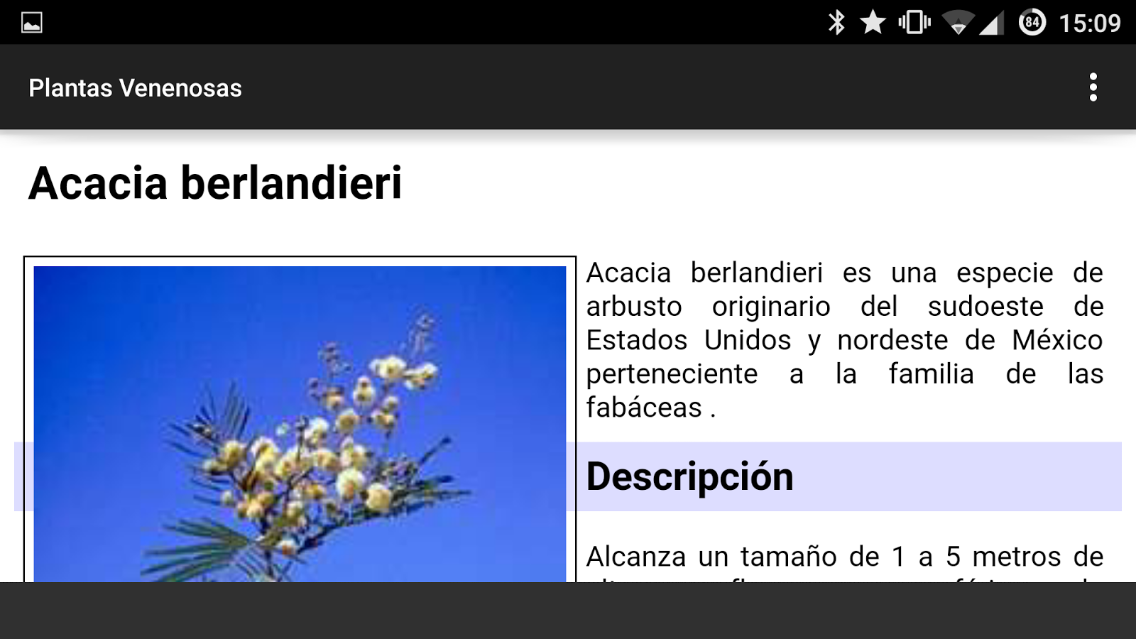 Plantas Venenosas- screenshot