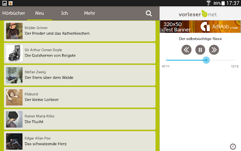 vorleser.net- screenshot thumbnail