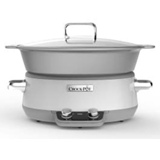 Crock-Pot 6,0L Induktion vit duraceramic