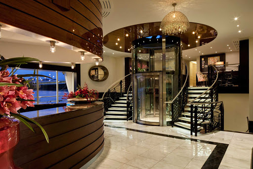 amacerto-lobby.jpg - The reception area of AmaCerto, which sails the Danube and Rhine rivers with occasional trips to the Black Sea.