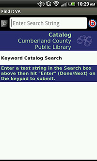 Searching the Cumberland County Public Library Catalog