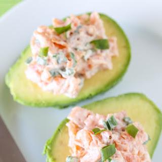 Smoked Salmon Salad in Avocado Boats.