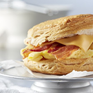 Bacon, Egg and Cheese Biscuit Sandwiches.