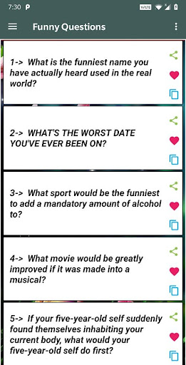Romantic Questions to ask ud83dudc96 1.3 screenshots 5