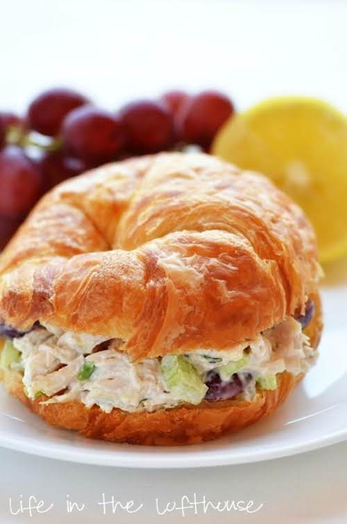 "Click Here for Recipe: Chicken Salad Croissant Sandwiches ""This chicken salad is..."