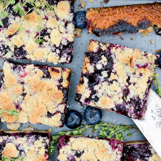 Blueberry-Thyme Pie Bars