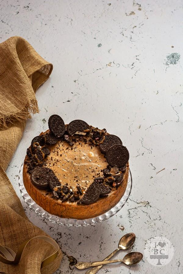Cheesecake de oreo y dulce de leche