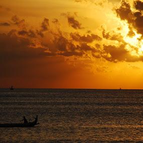 sunset at nusa lembongan island, bali. by Mike Junior - Landscapes Sunsets & Sunrises