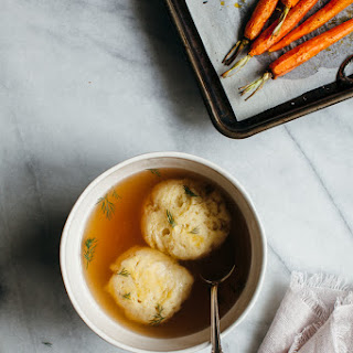 Chickpea Flour Matzo Ball Soup