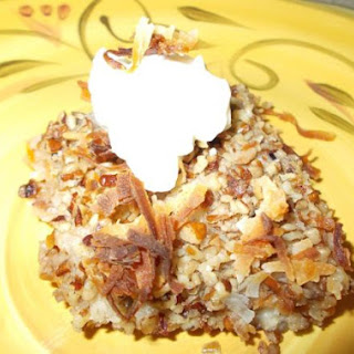 Nutty Peach Crisp