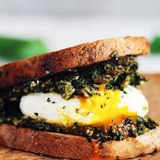 Green Egg Sandwich with Fresh Spring Pesto.