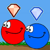 Red blue ball