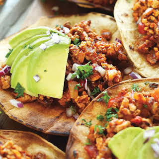 Spicy Braised Tofu Tostadas.