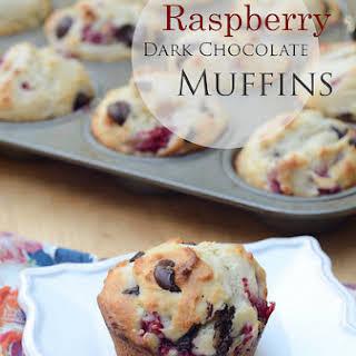 Raspberry Dark Chocolate Muffins.