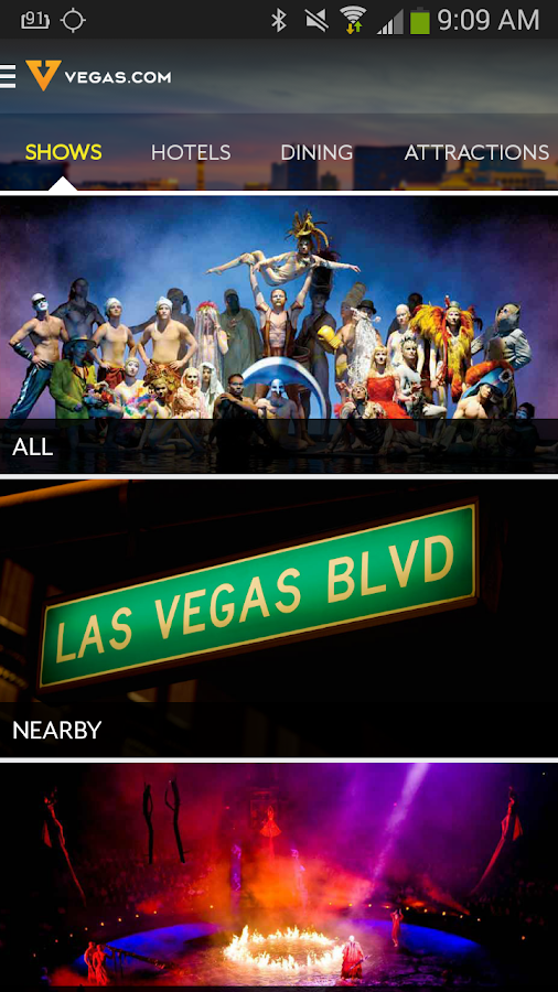 Vegas.com- screenshot