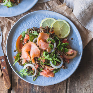 Low-Carb Smoked Salmon Lentil Salad Recipe