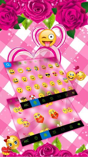 Pink Roses Keyboard Theme 1.0 screenshots 4
