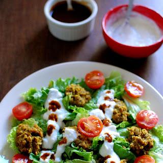 Spiced Mung Bean Salad with Tamarind Yogurt Dressing
