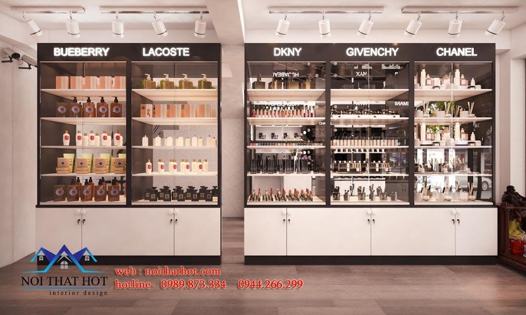 thiết kế shop mỹ phẩm nhập khẩu