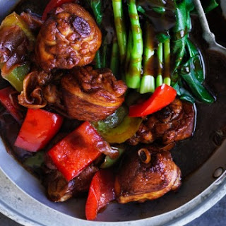 Chicken And Pickled Ginger In Honey Sauce.