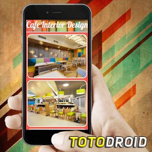 Návrh interiéru kavárny - náhled