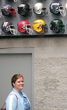 Photo: Melanie near the Cheraw helmet!