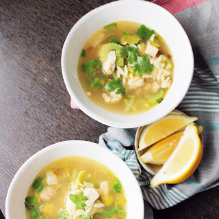 Chicken Soup with Lemon and Orzo