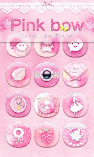 Pink Bow GO Launcher Theme