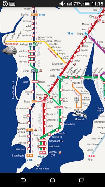 #2. Mumbai Local Train Timetable (Android)