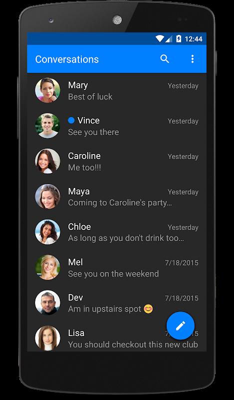 chomp SMS screenshots
