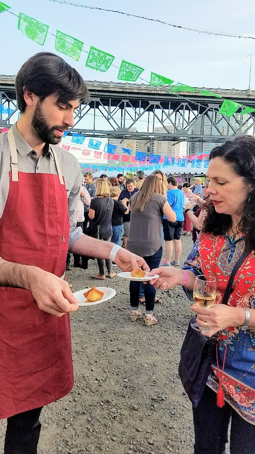Recap of Feast Night Market 2017: Greg Baxtrom of Olmsted offered Crab Rangoon with sweet and sour sauce