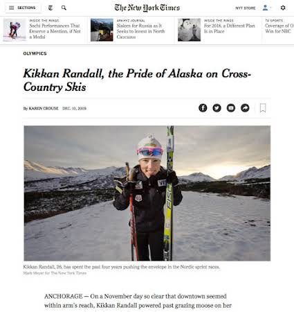 Kikkan Randall for the New York Times