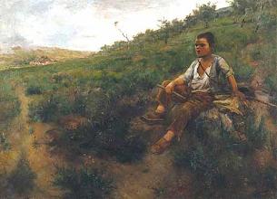 Photo: José Malhoa - Gritando ao rebanho - 1891