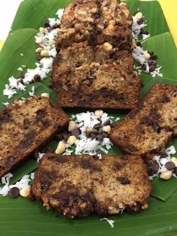 Chocolate Chip Coconut Banana Bread