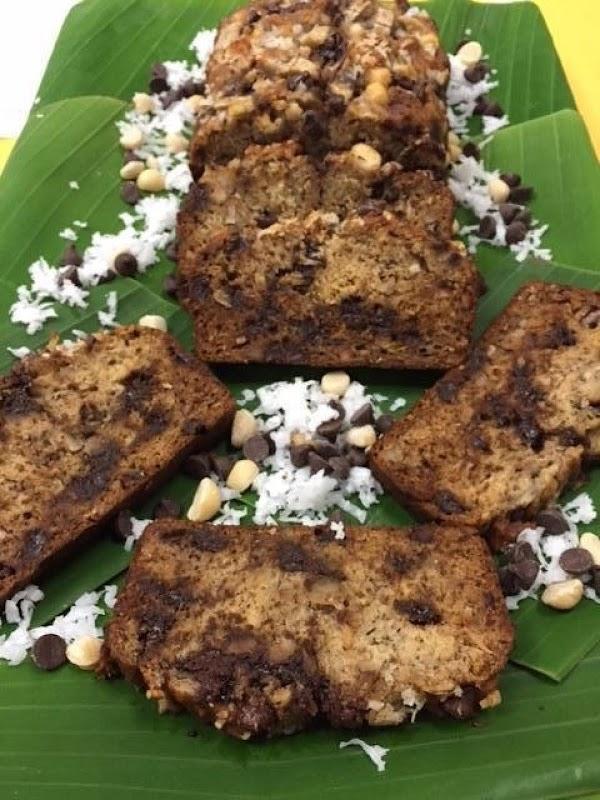 Chocolate Chip Coconut Banana Bread Recipe