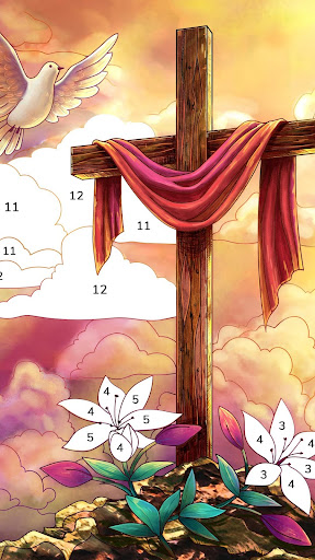 Bible Coloring - Paint by Number, Free Bible Games 2.5.2 screenshots 2
