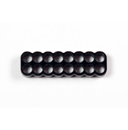 Kabelkam for 16 pins kabel, 2x8 Ø4mm hull, sort
