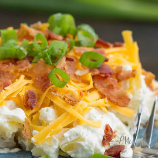 Bacon Ranch Twice Baked Potato Salad