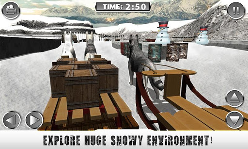 Snow Dog Sledding Simulator 3D