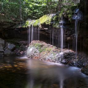 Ricketts Glen , Pa. by Steve Friedman - Landscapes Waterscapes ( natural light, waterfalls, nature, landscape, slow shutter,  )