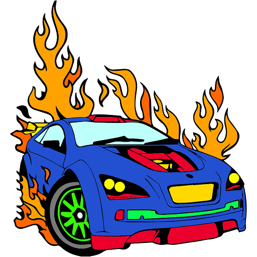 Super Cars Color by Number: Vehicles Coloring Book Icon