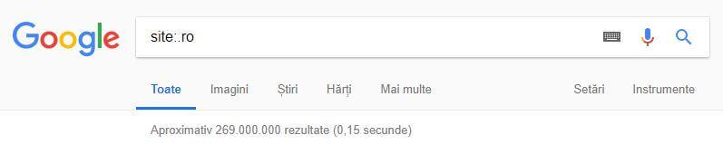 số lượng trang web ở Romania