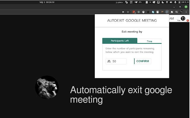 Google Meet AutoExit
