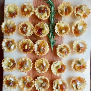 Marmalade Pistachio Brie Mini Tartlets.