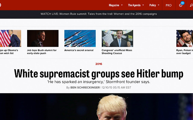 chrome extension swaps donald trump and hitler scary donald trump ...