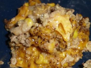 Hamburger Rice Cheese Casserole Recipe